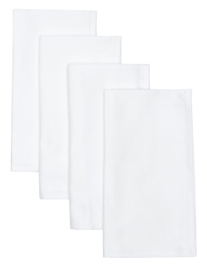 Everyday Damask Plain 4pc Napkin Set 50x50cm image 1