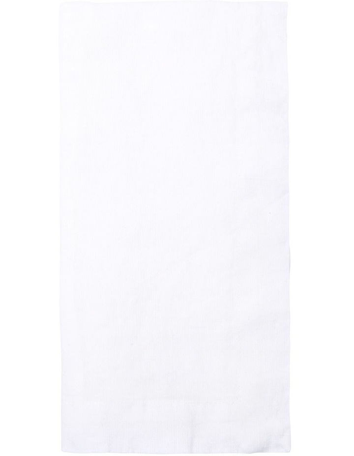 Sandycape Pure Linen Napkin 50x50cm White image 1