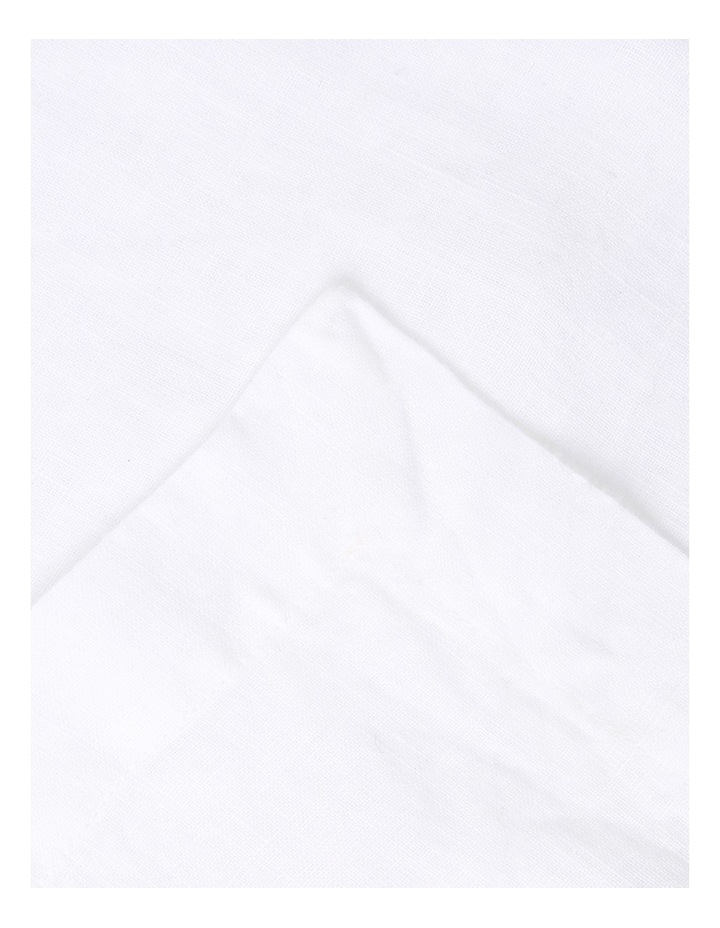 Sandycape Pure Linen Napkin 50x50cm White image 2