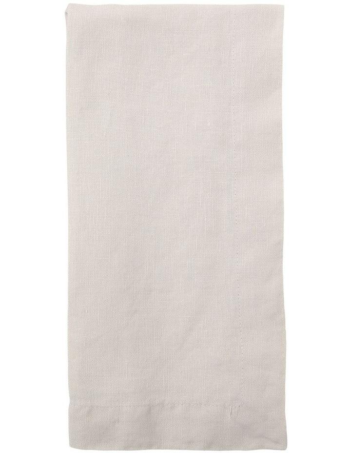 Sandycape Pure Linen Napkin 50x50cm Moon Beam image 1