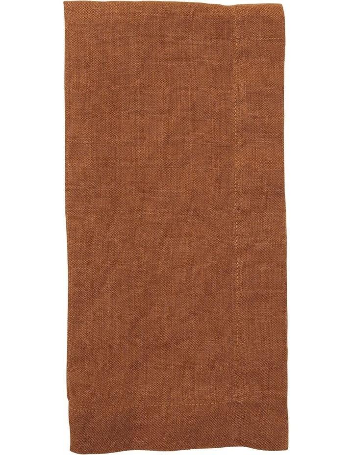Sandycape Pure Linen Napkin 50x50cm Clay image 1