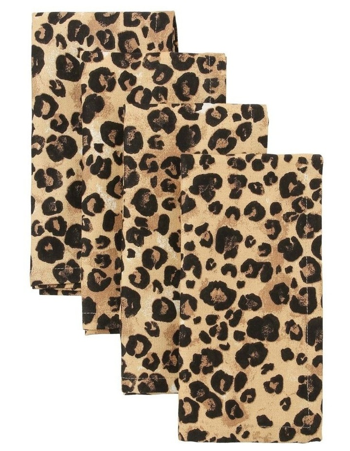Leopard Napkin Set of 4 image 1