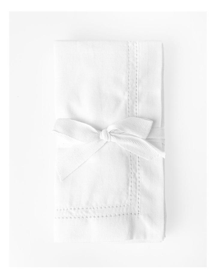 Elizabeth Set of 4 Napkin - White image 1