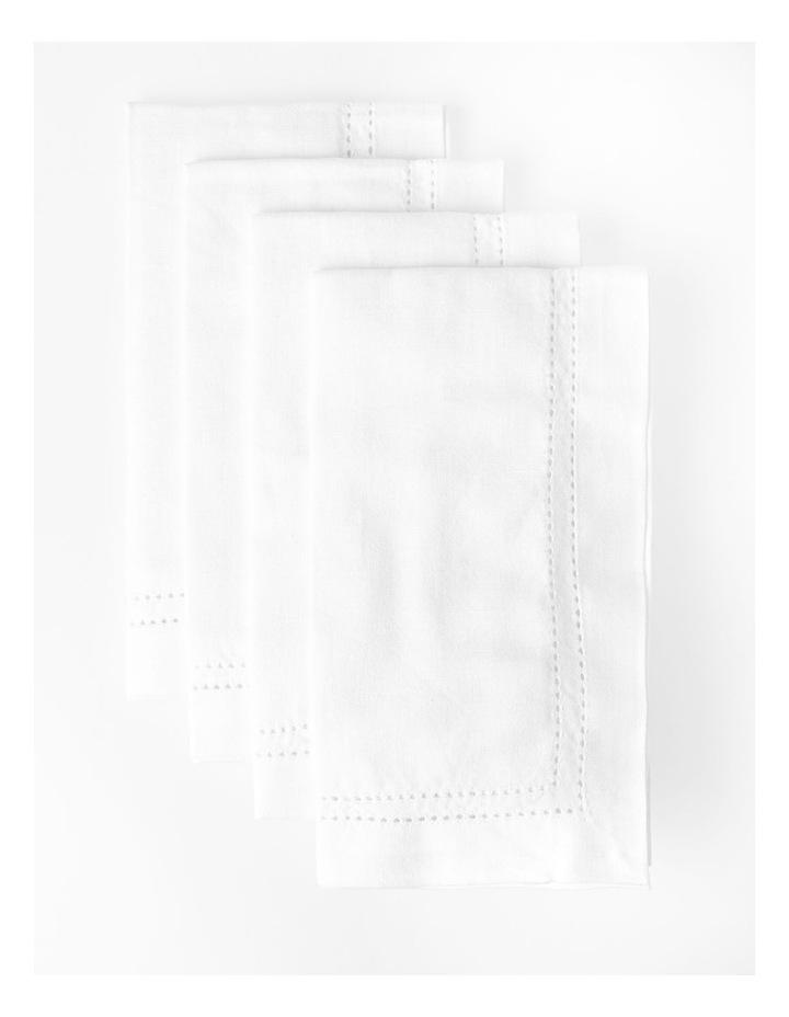 Elizabeth Set of 4 Napkin - White image 2