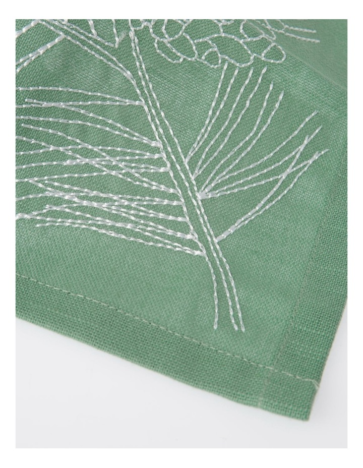 Eucalyptus Embroidery Napkin Set of 4 40x40 image 2