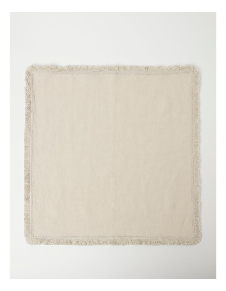 Fringed Linen Napkin Set of 4 Natural image 2