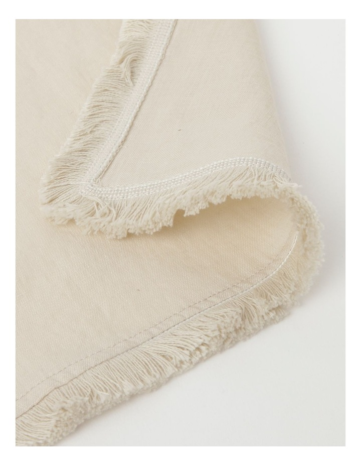 Fringed Linen Napkin Set of 4 Natural image 3