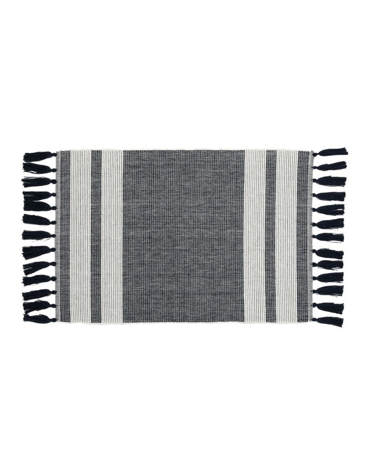 Otoway Cotton Ribbed Placemat with Tassels - Mood Indigo image 1