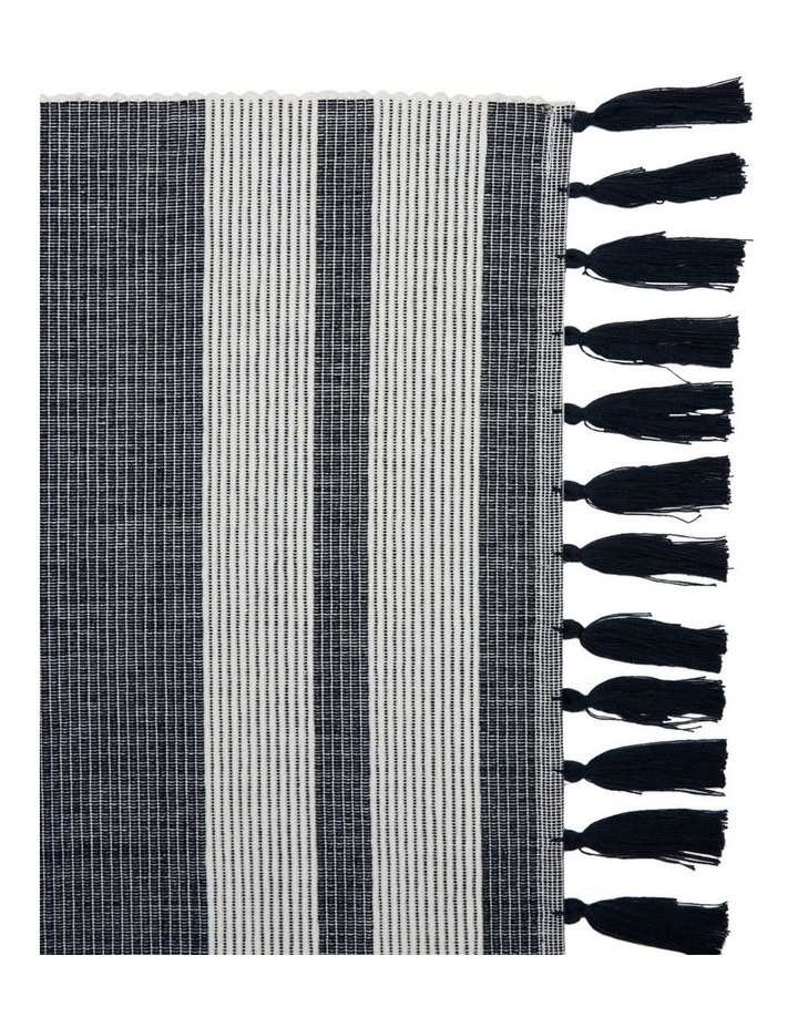 Otoway Cotton Ribbed Placemat with Tassels - Mood Indigo image 2