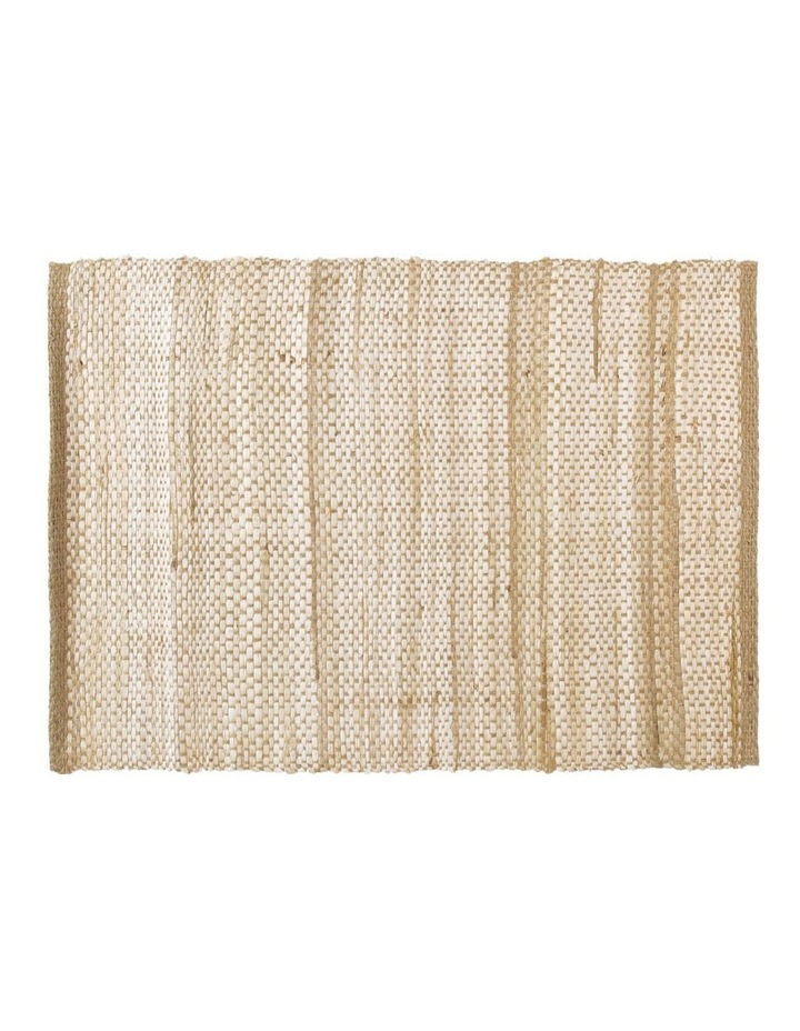 Handwoven Abaca Placemat 35 x 45cm Natural image 1