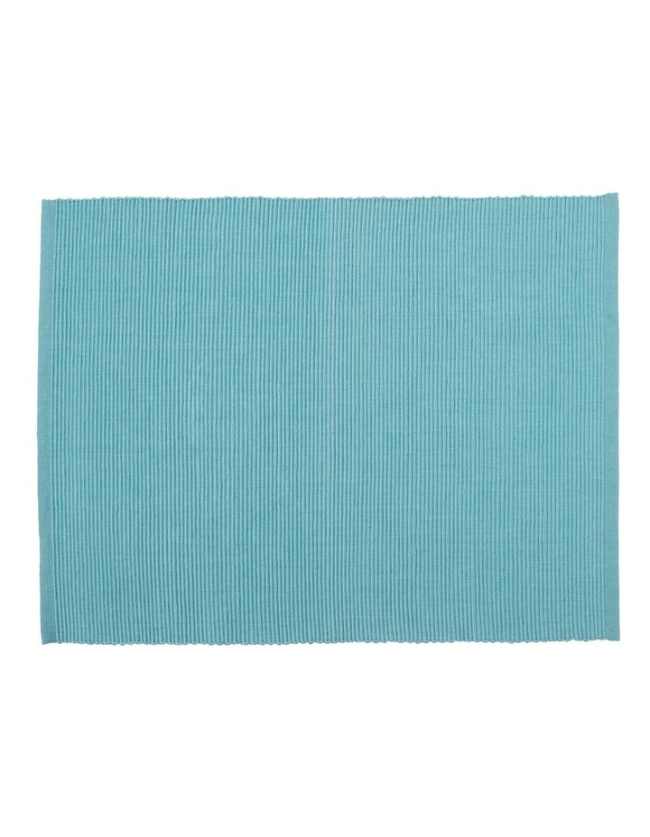 Madisson Ribbed placemat 30 x 45cm Milky Blue image 1
