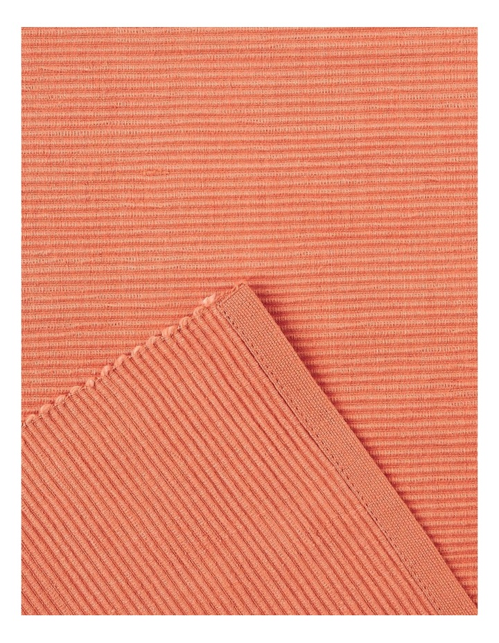 Madisson Ribbed placemat 30 x 45cm Coral image 2