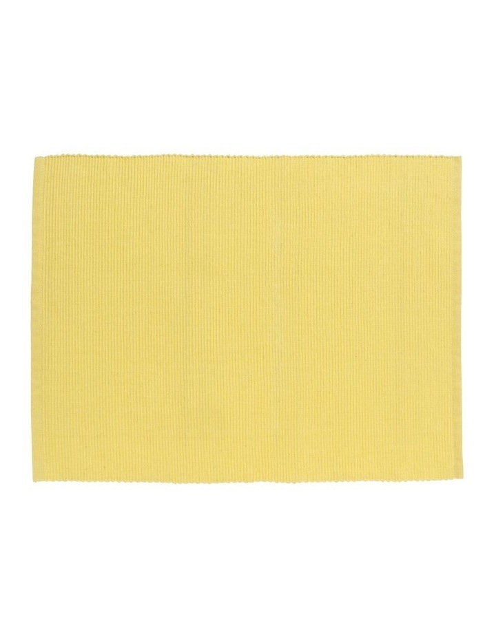 Yellow Madisson Ribbed Placemat 35 x 45cm image 1