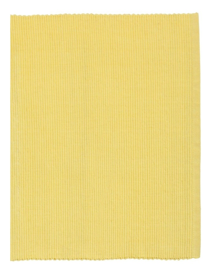Yellow Madisson Ribbed Placemat 35 x 45cm image 2