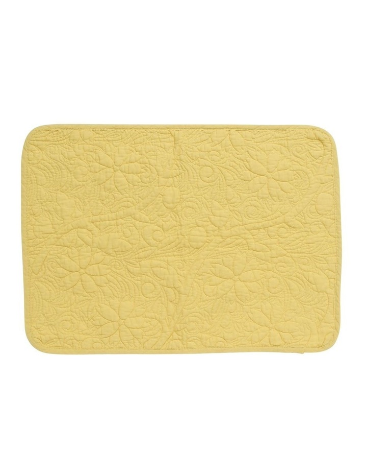 Quilted Floral Placemat Yellow image 1