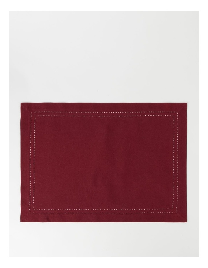 Elizabeth Hemstitch Placemat in Berry image 1
