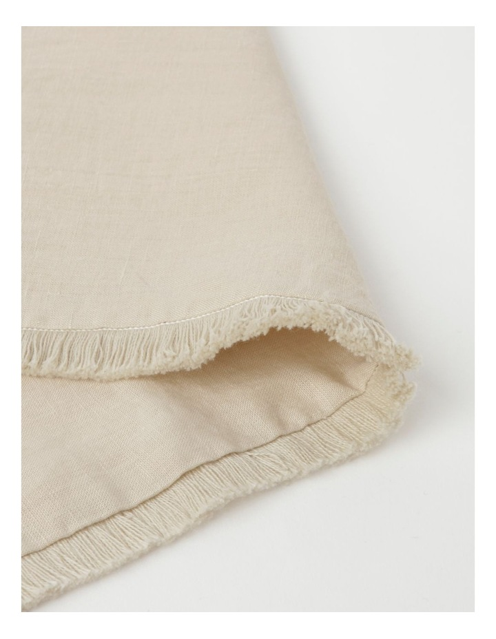 Fringed Linen Placemat Natural image 2