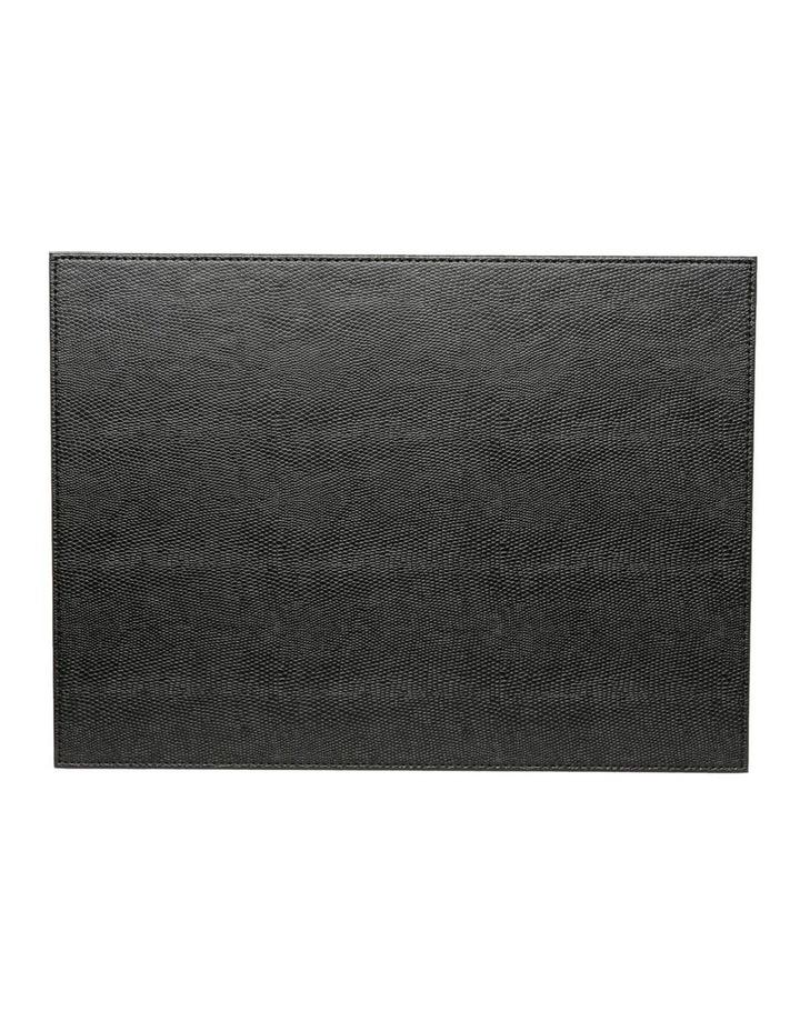 Collins Faux Leather Placemats Set of 4 - Black image 2