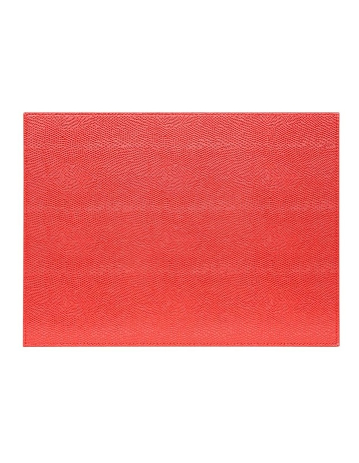 Collins Faux Leather Placemats Set of 4 - Red image 2