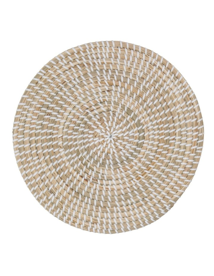 White Woven Seagrass Placemat 32cm image 1