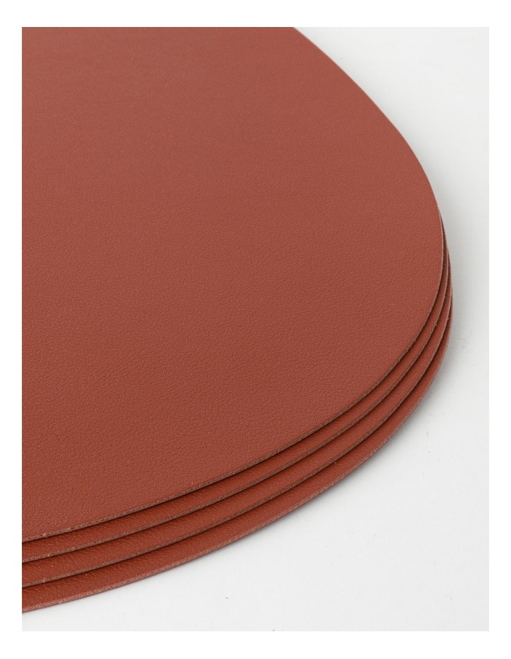 Leather-look Placemat Set of 4 - Brick image 3
