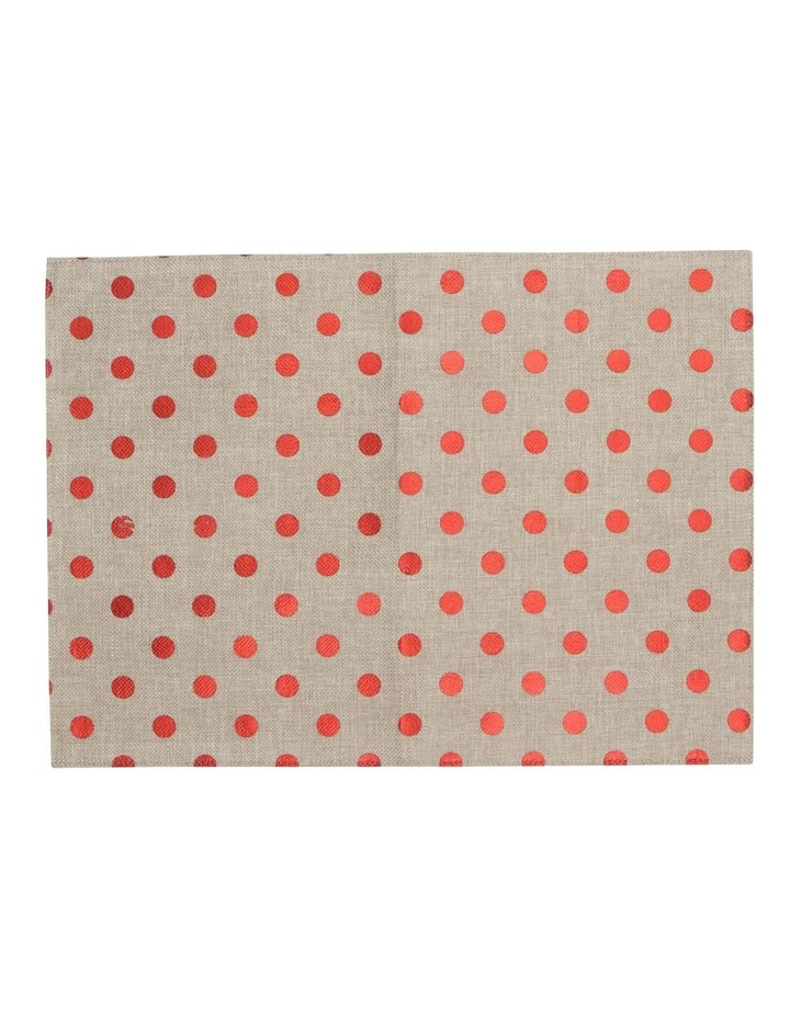 Reversible Polka Dots Foil Printing Red Placemat Set Of 4 33x45cm image 1