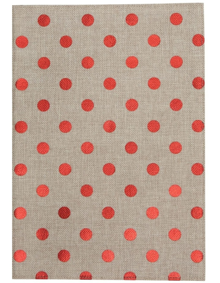 Reversible Polka Dots Foil Printing Red Placemat Set Of 4 33x45cm image 2
