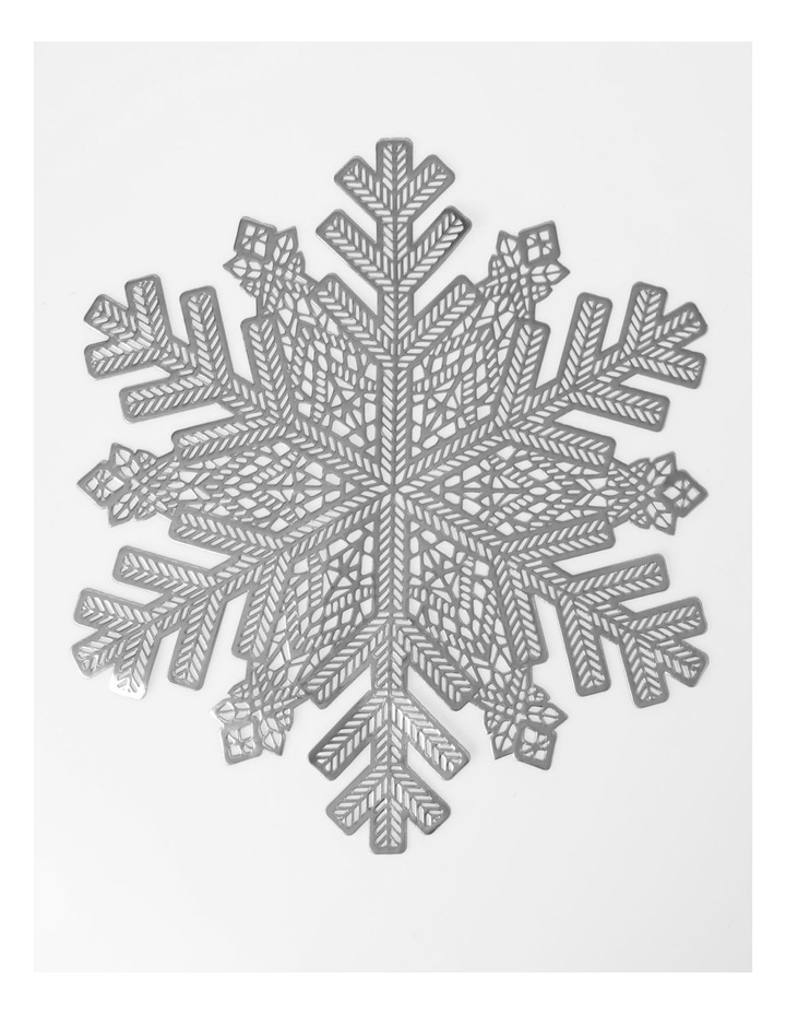 Snowflake Placemat Silver image 1