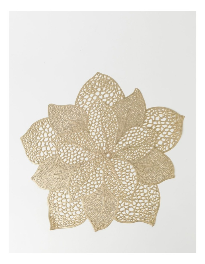 Poinsettia Placemat Set Of 4 - Gold image 1