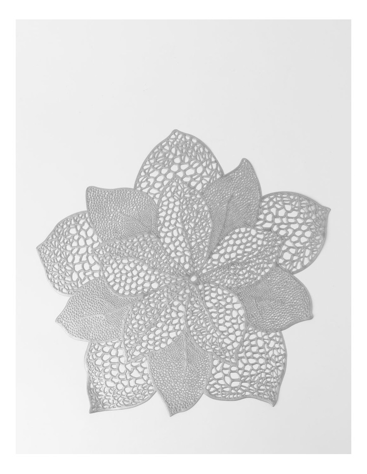 Poinsettia Placemat Set Of 4 - Silver image 1