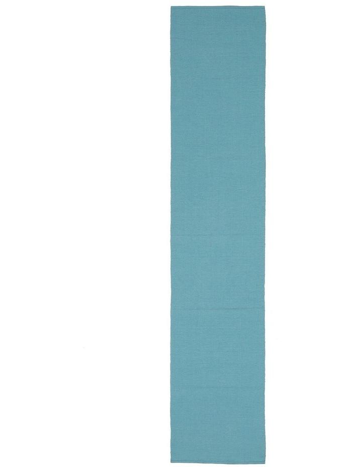 Madisson Ribbed runner 33 x 180cm Milky Blue image 1