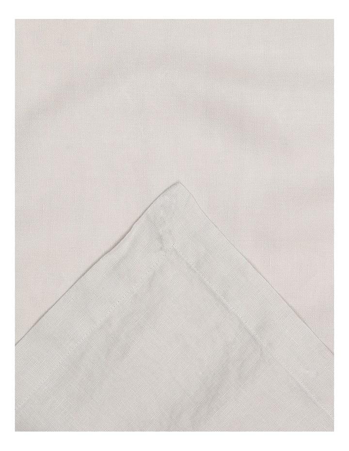 Sandycape Pure Linen Table Runner 45x220cm Moon Beam image 2