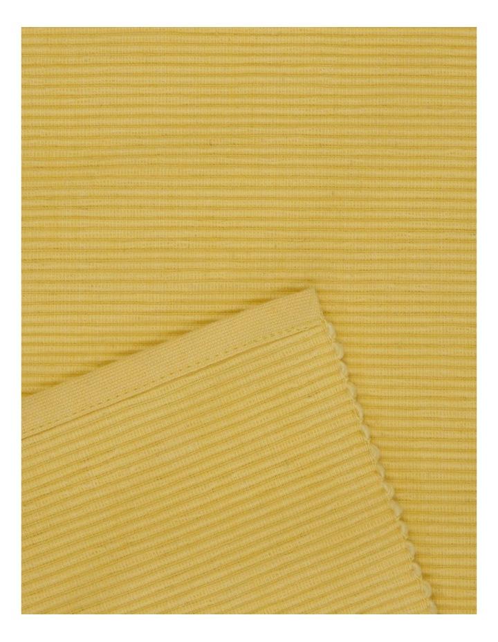 Yellow Madisson Ribbed runner 33 x 180cm image 2