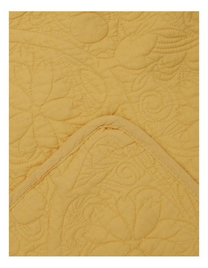 Yellow Quilted Floral Runner image 2