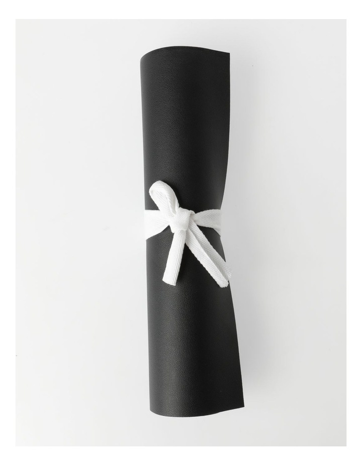 Leather Look Table Runner - Black image 4