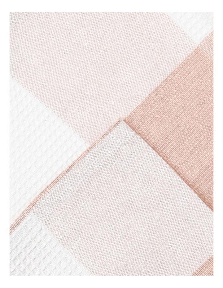 Check and Stripe Tea Towel set of 2 Smoke Rose image 3