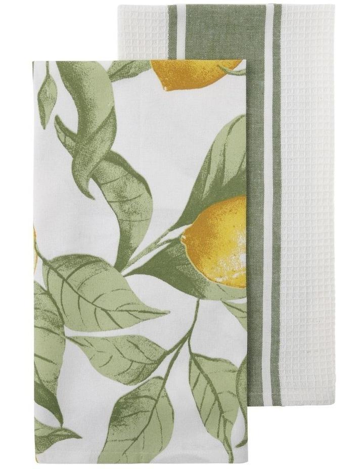 Capri Lemon Tea Towels image 1