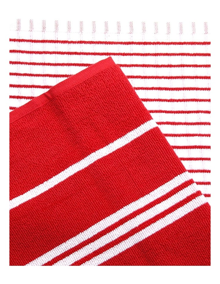 Terry Tea Towels 4Pk Red image 2