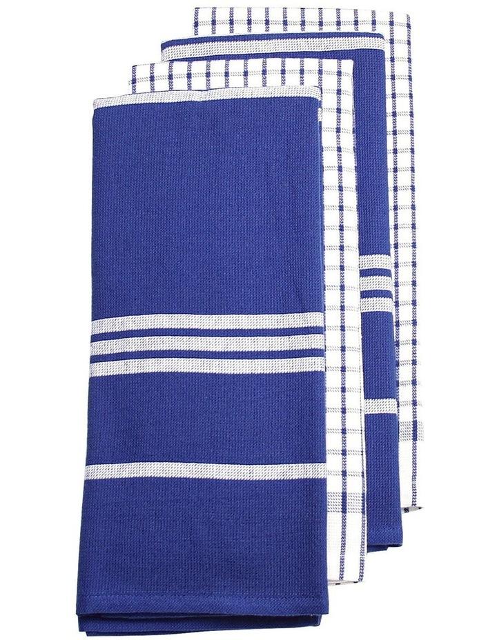 Terry Tea Towels 4Pk Blue image 1