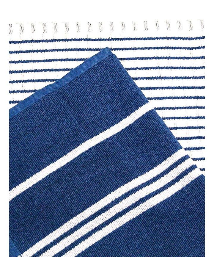 Terry Tea Towels 4Pk Blue image 2