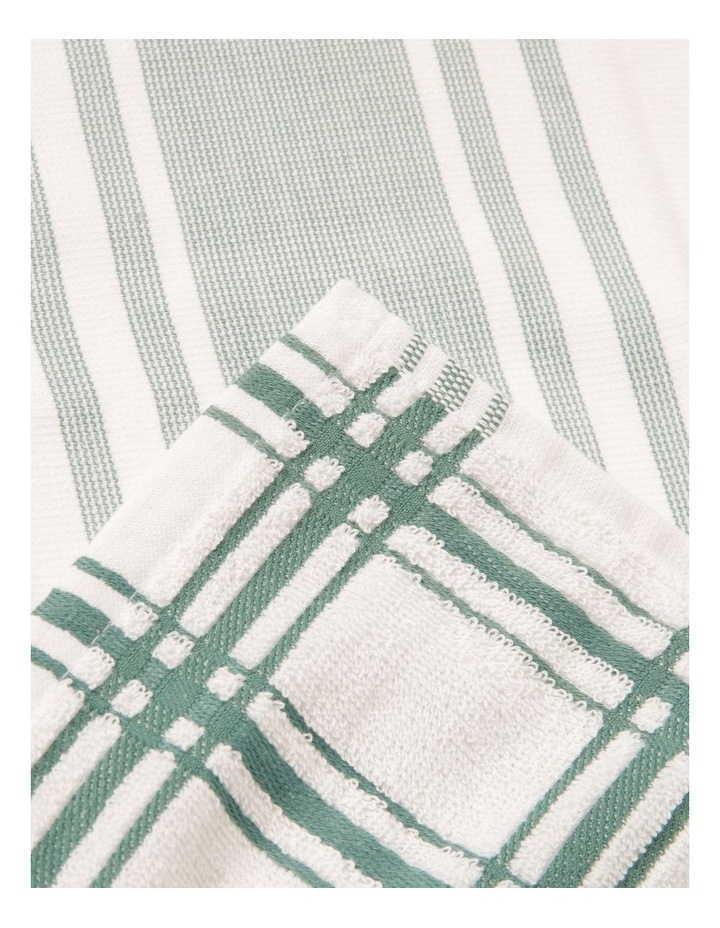 Green 4 Pack Cotton Terry Back Tea Towel image 2