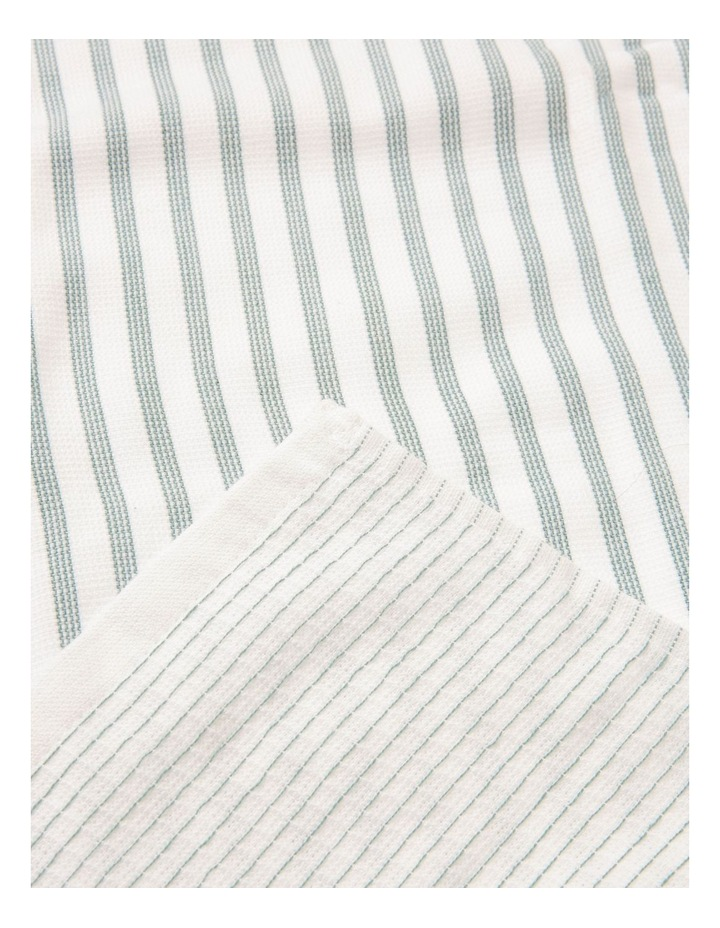 Green 4 Pack Cotton Terry Back Tea Towel image 3