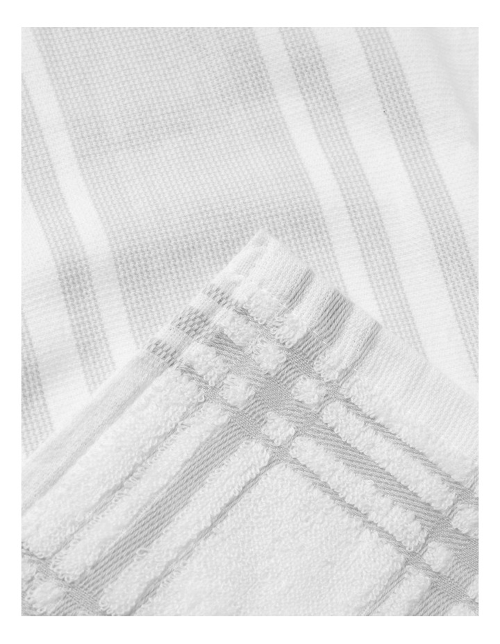 Grey 4 Pack Cotton Terry Back Tea Towel image 2