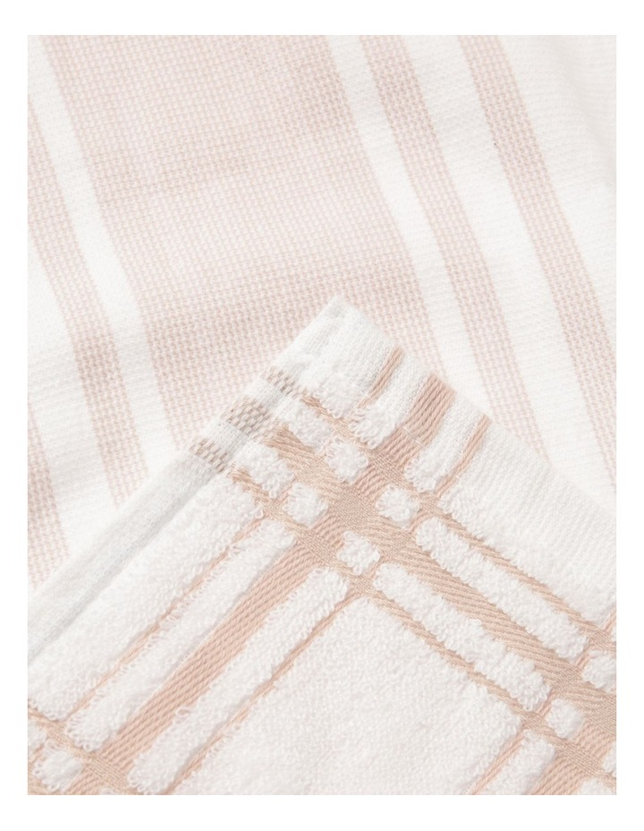 Pink 4 Pack Cotton Terry Back Tea Towel image 2
