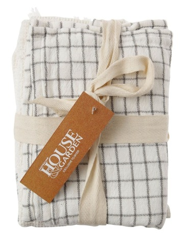 6 Tea Towels, Beige Casabella Pack Of 6 Tea Towels Dish Cloths Highly Absorbent With Striped And Textured Design