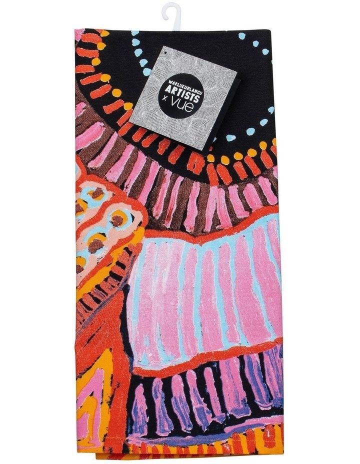 Murdie Nampijinpa Morris - Malikijarra Jukurrpa (Two Dogs Dreaming) Kitchen Towel image 2
