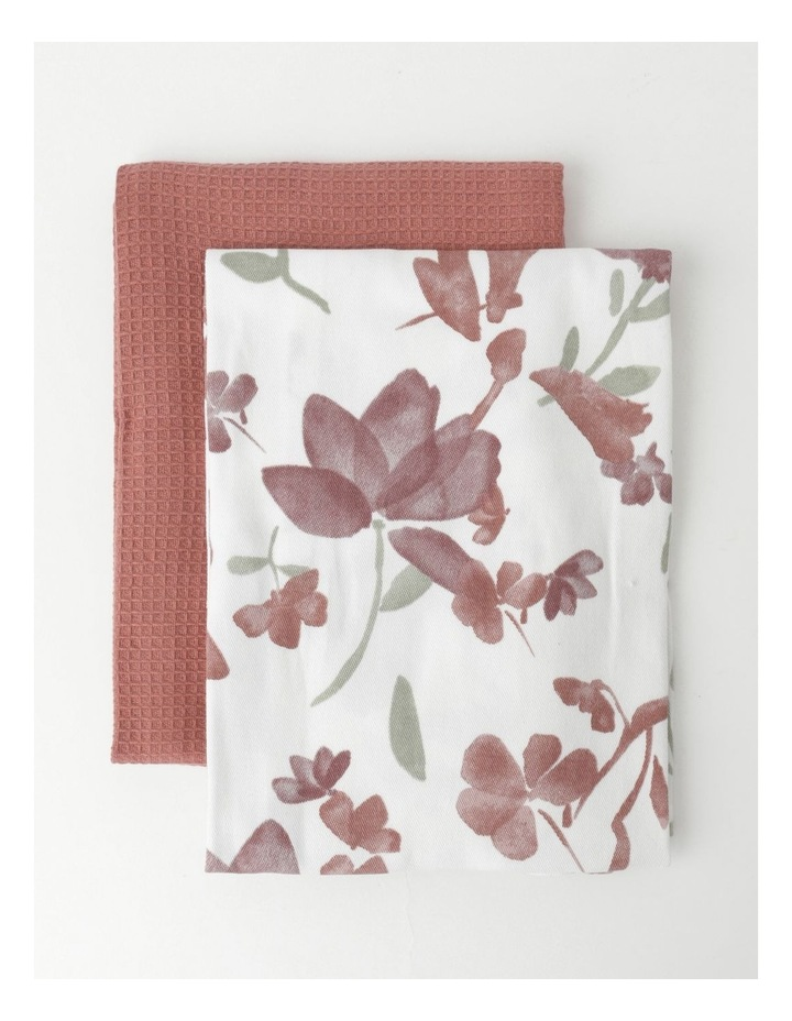 Floral Tea Towel Pack of 2 image 1