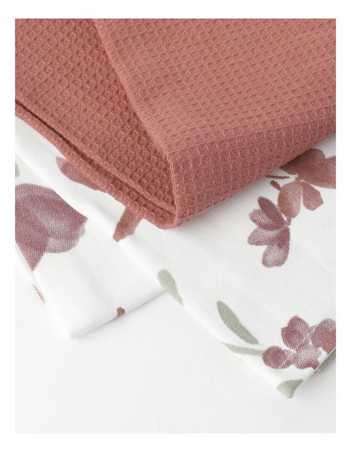 Floral Tea Towel Pack of 2 image 2