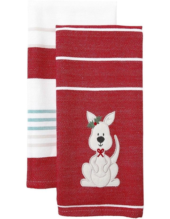 Cute Kanga Applique 2PK Tea Towels image 1
