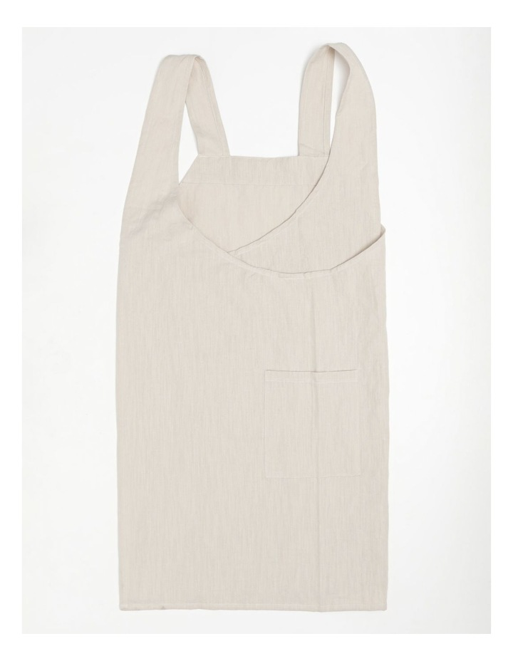 Linen Throw Over Apron - Natural image 1